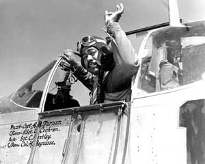 Tuskegee Airman Captain Andrew D. Turner, CO of 322nd, 1944. (Photo: U.S. Air Force)