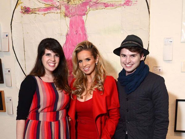 Jade Barnes, Maria R. Papadakis with Ian Michael Crumm at the INLIQUID VIP v.13 Preview Party. (AL FOR / Philly.com)
