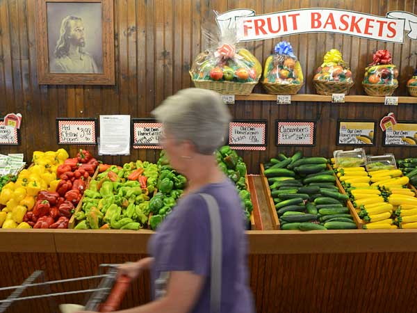The fresh produce in Duffield's Farm Market in Sewell, N.J.