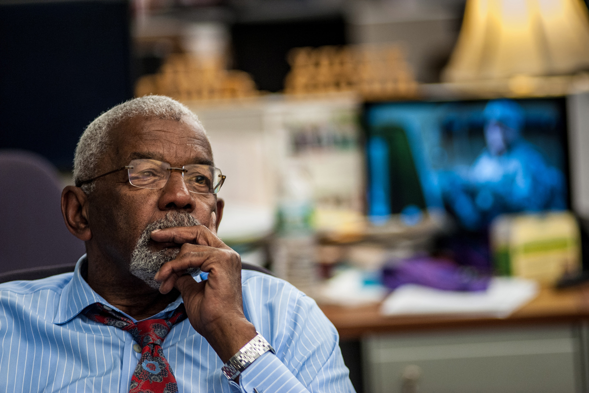 Longtime Washington D.C. news anchor Jim Vance, seen here in 2014. Vance died on Saturday at the age of 75.