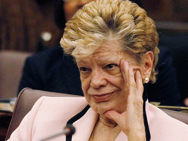 Joan Krajewski seen in 2011 during a send-off for departing council members. (File photo)