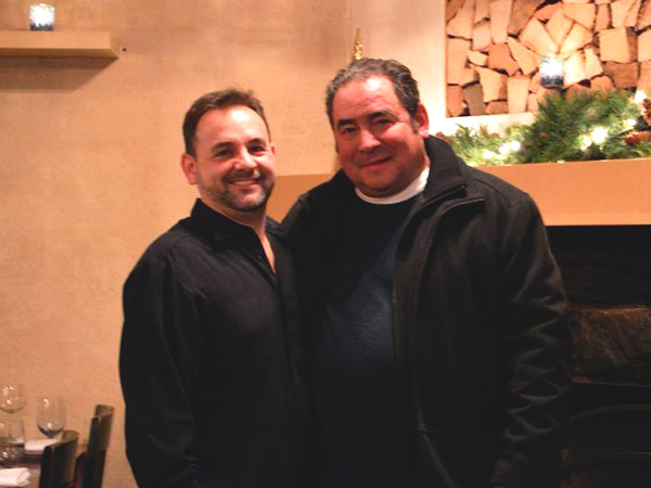 John Brandt-Lee of Avalon restaurant with Emeril LaGasse.