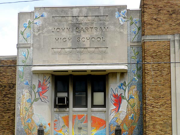 Exterior view of John Bartram High School in Philadelphia (Photo from Wikipedia Commons)