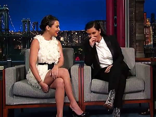Kourtney and Kim opened up to David Letterman on pregnant Kim´s nasty divorce battle with Kris Humphries.