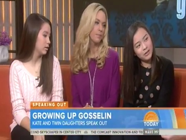 """Cara (left), Kate, and Mady Gosselin on the """"Today"""" show."""