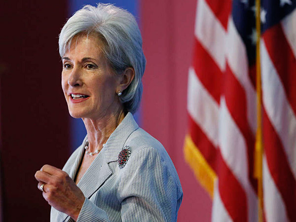 Kathleen Sebelius, Health and Human Services secretary, speaks during an Obamacare event hosted by Congreso de Latinos Unidos in North Philadelphia. (Matt Rourke/AP)