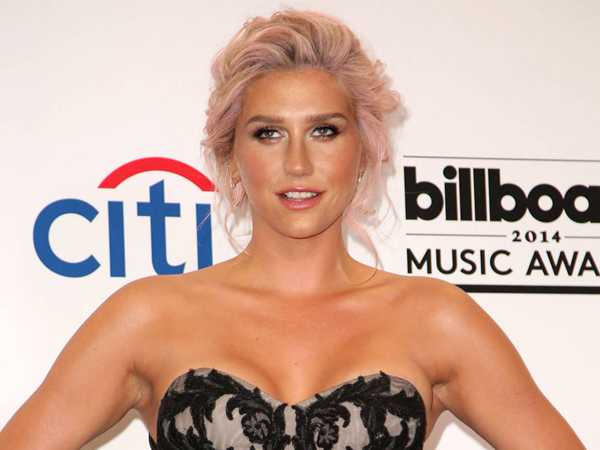 Kesha attends the 2014 Billboard Music Awards - Press Room at MGM Grand Garden Arena in Las Vegas, Nevada.
