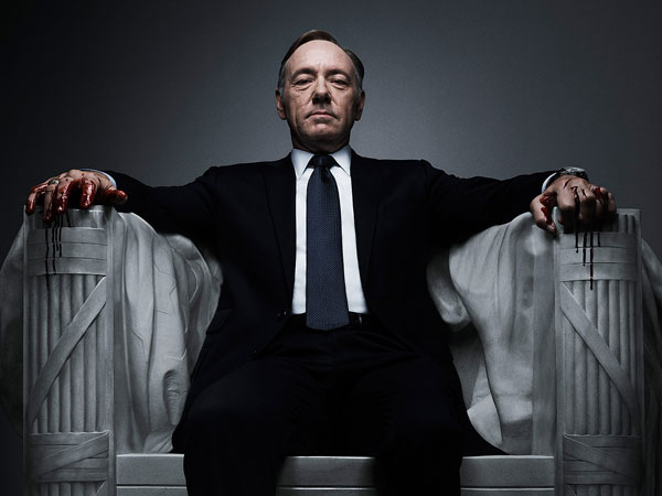 "Kevin Spacey plays U.S. Congressman Frank Underwood in a scene from the Netflix original series, ""House of Cards."" If Netflix´s ""House of Cards"" and ""Arrested Development"" become the first online shows to reap Emmy nominations Thursday, July 18, it will be a watershed moment for programs that don´t need television sets to make a splash. (Photo / Netflix)"