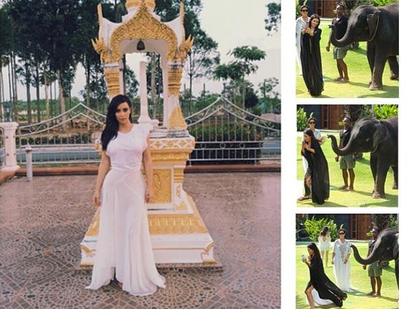 Photos taken from Kim Kardashian´s Thailand trip (via Instagram)