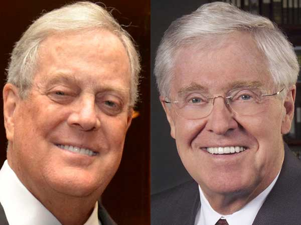 David (left) and Charles Koch.