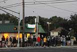 A crowd at the new Krispy Kreme on Haddon Avenue at Cuthbert. (Hugh Dillon for Neff Associates)