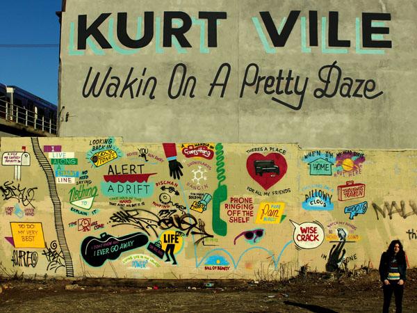 "Kurt Vile´s ""Wakin on a Pretty Daze"" album cover, designed by Philadelphia artist Stephen ""ESPO"" Powers."