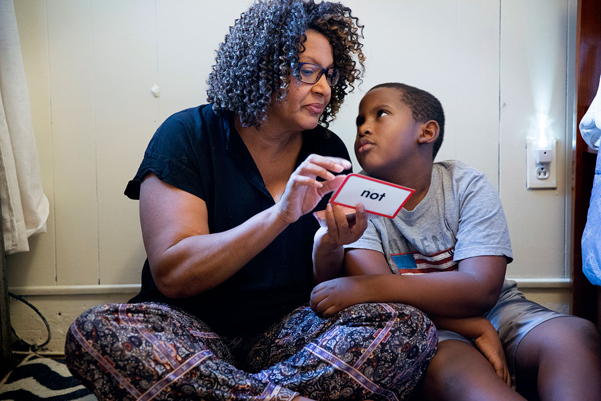 Avril Absolum, and her son Jalen are very close. He looks to her for guidance as they work their way through the flash cards. When Jalen was 2, his pediatrician discovered he had an alarming blood lead level.<br />