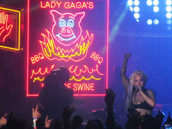 Lady Gaga, at her Haus of Swine at the Stubb´s BBQ in Austin on Thursday night at SXSW.