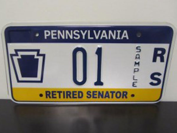 The license plates identify vehicles as belonging to either a state senator or state representative and include the lawmaker´s district number. Plates are also available to retired lawmakers. The cost of a plate will be rising from $20 to $76 in July. (PA Independent)