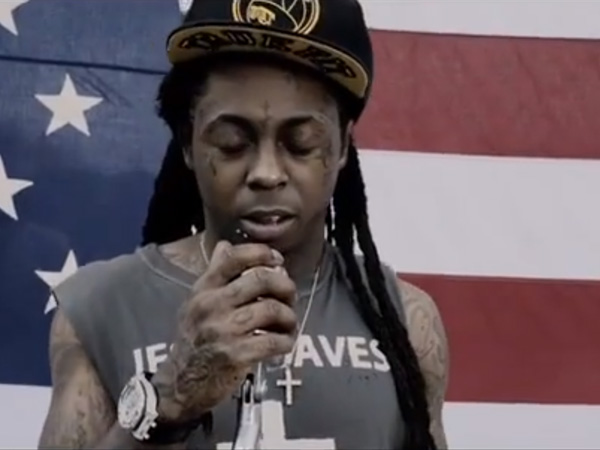 "Lil´ Wayne in his new video for ""God Bless Amerika"""