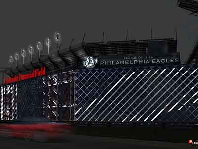 A rendering of the Linc at night, with the solar panels illuminated. (NRG)