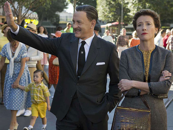 "Walt Disney (Tom Hanks), and P.L. Travers (Emma Thompson), in Disney's ""Saving Mr. Banks. (François Duhamel/Disney Enterprises)"