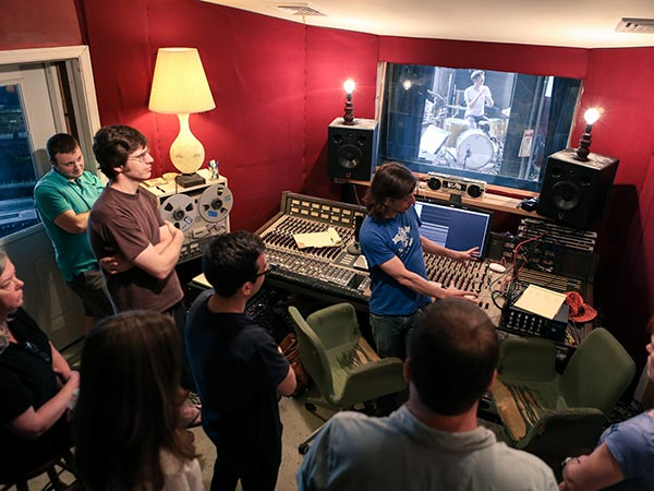 Founder Brian McTear set up Weathervane Music studio as a nonprofit incubator to foster budding tech talent. Workshops provide hands-on instruction.