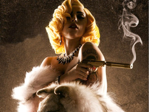 Picture shows: Lady Gaga in a character poster for the movie.