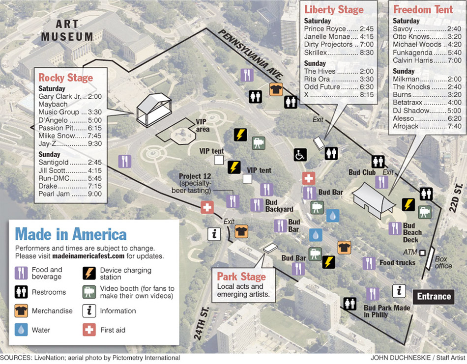 Made in America maps you can use   Philly