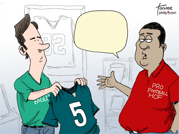 Donovan McNabb Hall of Fame cartoon