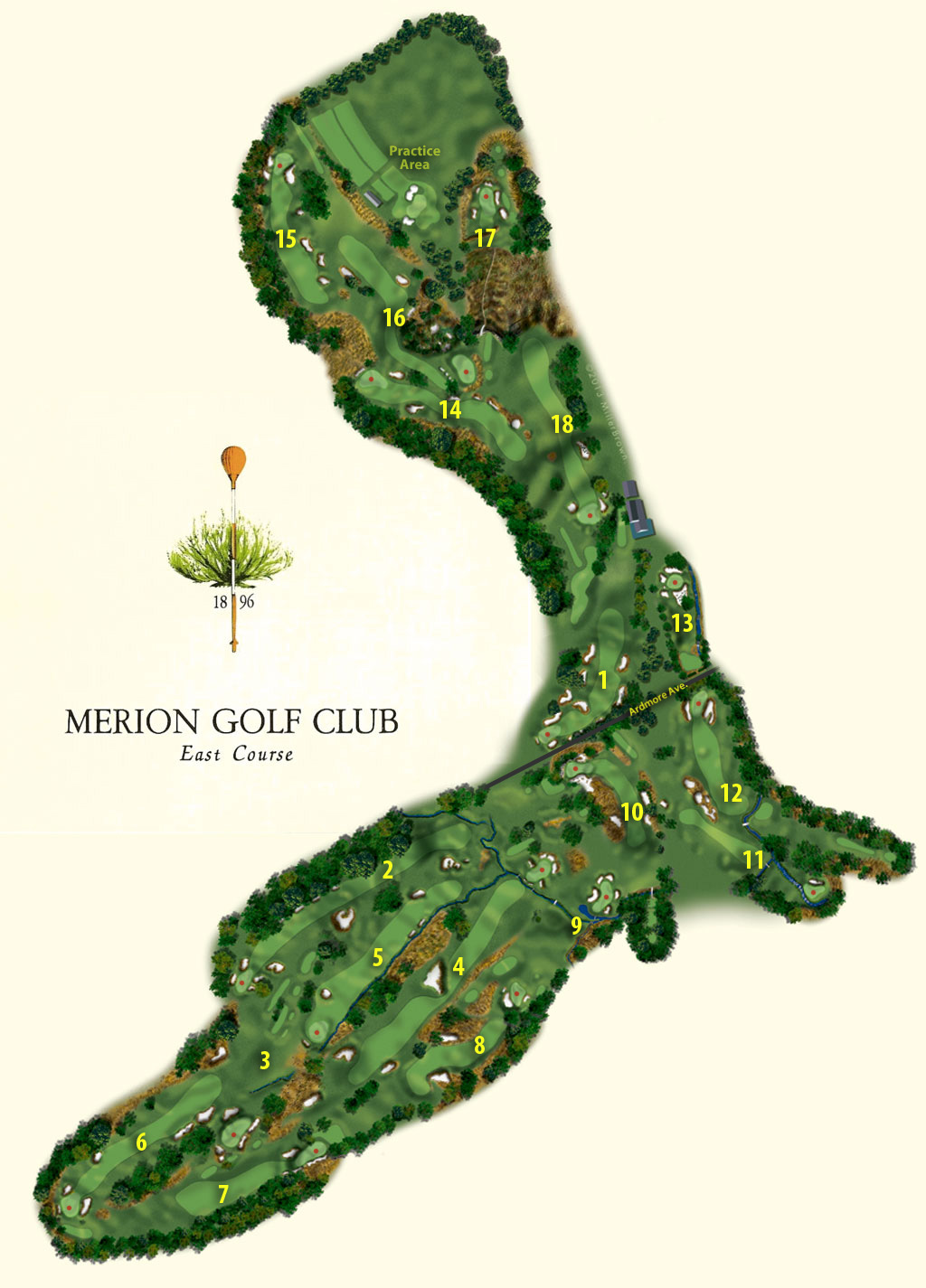 us open merion course map philly