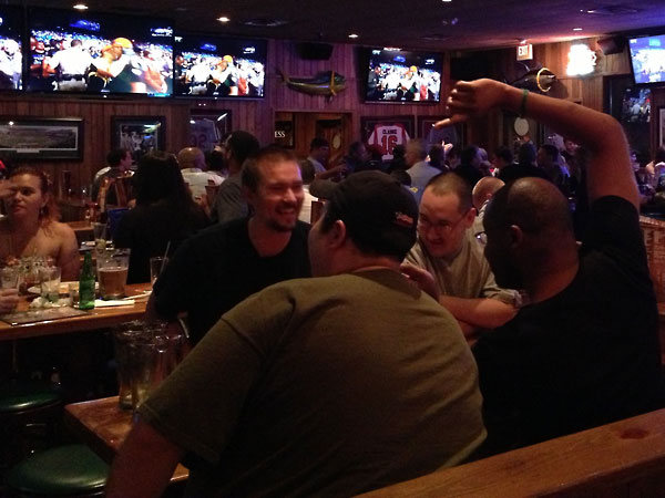 Fans take in UFC 162 at Miller´s Ale House. (Photo courtesy of Joe Hand Promotions)