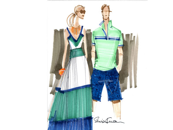 Milly x Banana Republic will debut in select locations worldwide late May 2013.