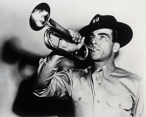 Montgomery Clift bugle calls.