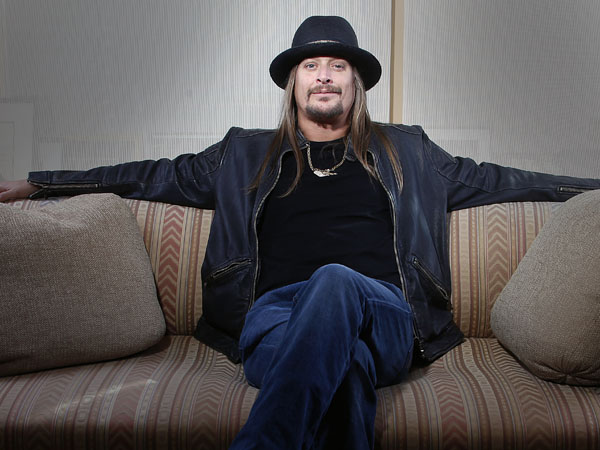 """Grammy-award winning artist  Kid Rock posing for a portrait in New York. Kid Rock´s """"$20 Best Night Never Tour"""" kicks off June 28 in Bristow, Va., and opening acts include ZZ Top, Uncle Kracker and Kool and the Gang. (Photo by Carlo Allegri/Invision/AP, file)"""