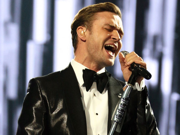 Justin Timberlake performs on stage during the BRIT Awards 2013 at the o2 Arena in London. (Photo by John Marshall/Invision/AP, File)