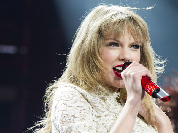 Taylor Swift performing at the Prudential Center in Newark, N.J. (Photo by Charles Sykes/Invision/AP, file)