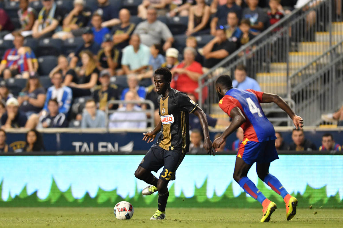 Derrick Jones made his Union debut last summer in an exhibition game against English Premier League club Crystal Palace.