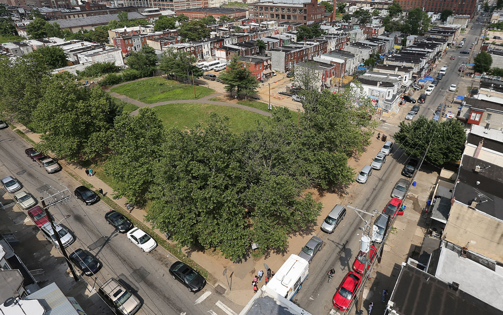 An overall view of Hope Park in Philadelphia.<br />