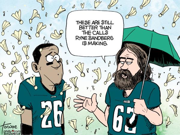 NFL Flags Ryne Sandberg Phillies Eagles