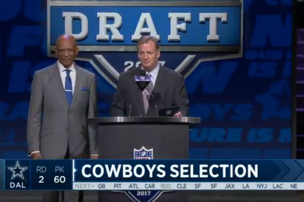 Drew Pearson drew ire from Philadelphia faithful during the second round of the NFL Draft Friday, April 28, 2017.