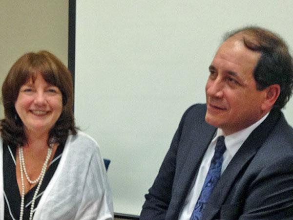 Susan C. Reinhard, senior vice president of AARP, and N.J. State Sen. Joseph F. Vitale.