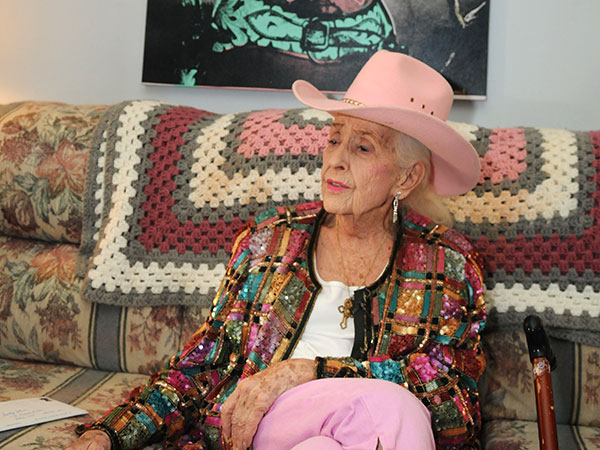 Sally Starr, 87, sitting in her living room in her Atco home on March 3, 2010  (Sarah J. Glover / Staff Photographer/File)