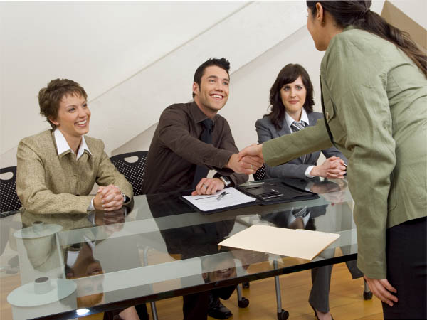 Give a confident handshake when meeting potential employers at networking events.