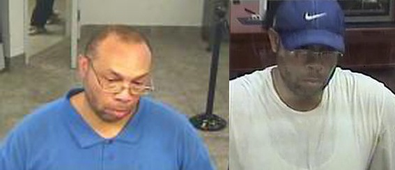 Police and FBI officials say this man has robbed two banks on Broad Street near Oxford between Friday afternoon and Tuesday morning. (Police and FBI photos)