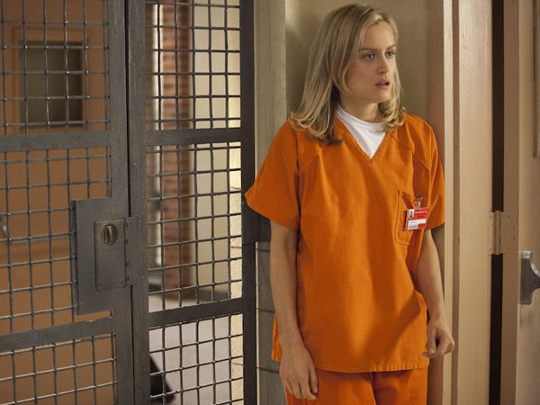 "Piper Chapman, played by Taylor Schilling, in the critically acclaimed new Netflix series ""Orange is the New Black."""