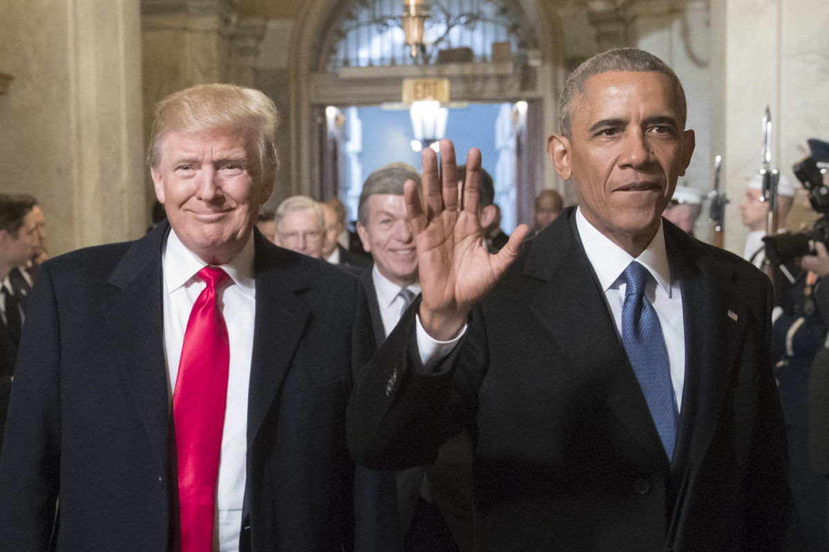 President-elect Donald Trump was all smiles with President Barack Obama at Trump´s inauguration.