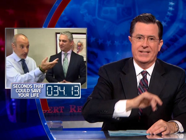 Colbert has an on-air procedure.