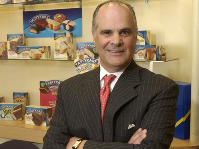 Tasty Baking CEO Charles Pizzi, whose company was acquired by Georgia-based Flowers Food yesterday. (file photo)