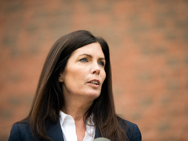 Attorney General Kathleen Kane speaks during a news conference Wednesday, Jan. 21, 2015, in Philadelphia. (AP Photo/Matt Rourke)