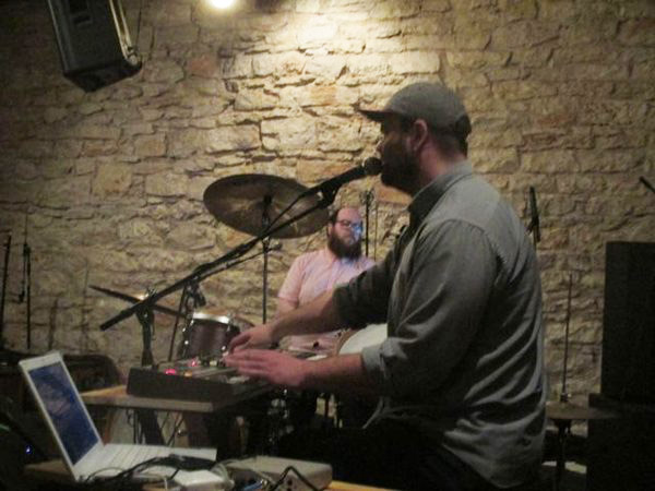 Chris Ward and Adam Thiboldeaux of Philadelphia duo Pattern Is Movement at SXSW.