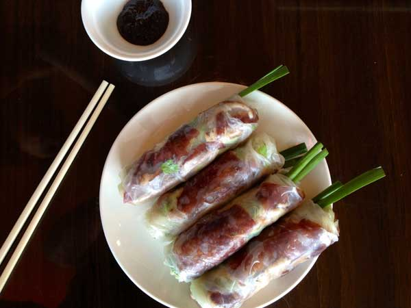 Peking Duck summer rolls from Mi Dac Ky.