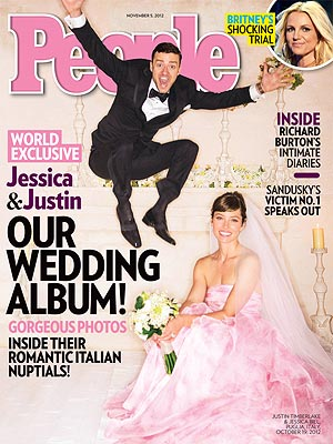 Timberlake and Biel on the cover of People.