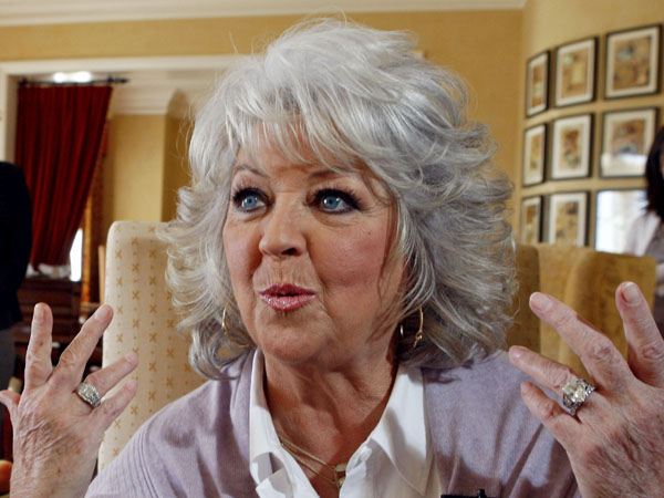 FILE - In this Dec. 30, 2010 file photo, Paula Deen speaks in Pasadena, Calif. (AP Photo/Nick Ut, File)
